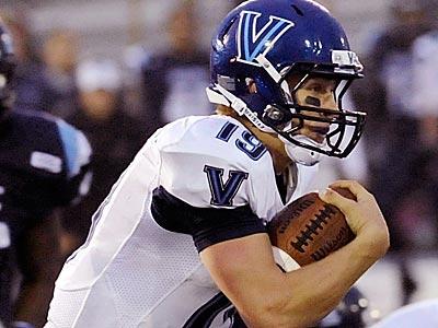 Villanova quarterback John Robertson. (Michael C. York/AP)