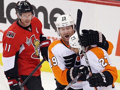 Rookie Matt Read Leads Flyers Past Hapless Senators