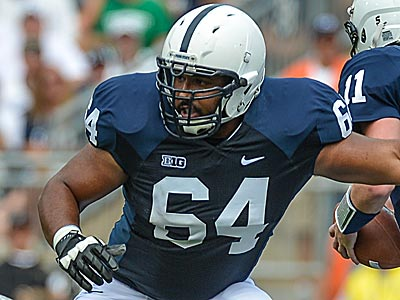 Penn State guard John Urschel graduated last May with a 4.0 grade-point average. (Handout photo)