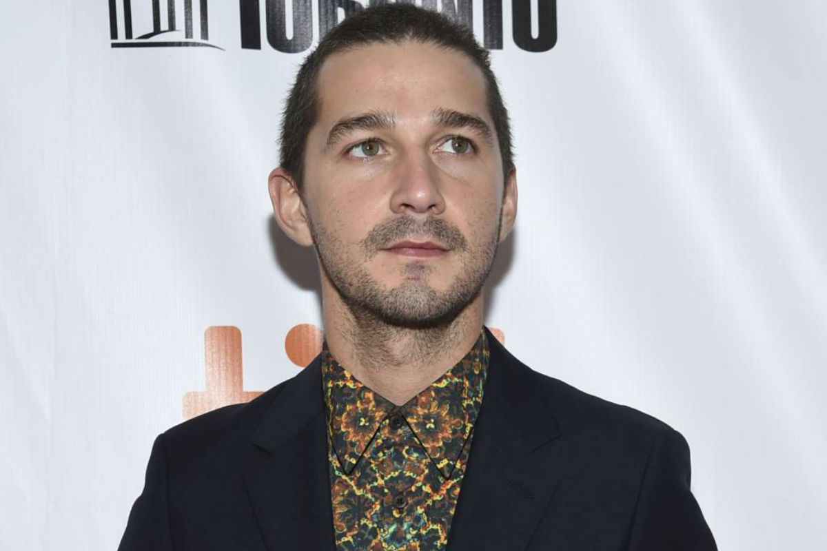 """FILE - In this Sept. 7, 2017 file photo, Shia LaBeouf attends the opening night gala for """"Borg/McEnroe"""" at the Toronto International Film Festival in Toronto.  LaBeouf was sentenced to probation Thursday after the """"Transformers"""" star pleaded guilty to a misdemeanor charge of obstruction stemming from his attempt to elude police following a vulgar public outburst in Georgia."""