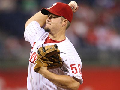 Joe Blanton will start Game 4 of the NLCS for the Phillies tonight. He has not pitched in a game since Oct. 3. (Michael Bryant / Staff File Photo)