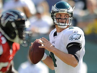 Quarterback Kevin Kolb was selected the NFC Offensive Player of the Week thanks to his play against Atlanta. (Clem Murray / Staff Photographer)