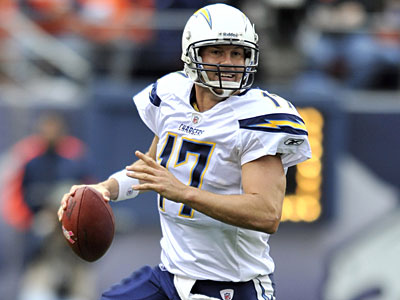 Philip Rivers and the Chargers have a key road matchup against the New York Jets. (Jack Dempsey/AP)