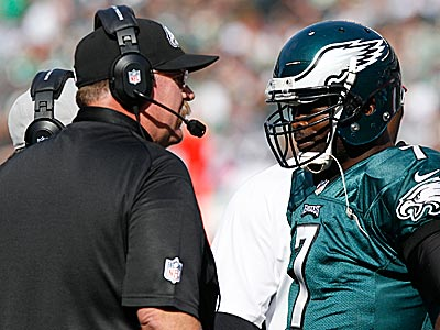 Michael Vick and the Eagles are back at work and preparing to face the Falcons on Sunday. (Yong Kim/Staff file photo)