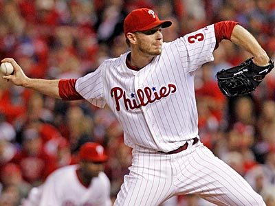 Roy Halladay, who took the loss in Game 1 of the NLCS, will start tonight´s must-win Game 5 for the Phillies. (Michael Bryant / Staff Photographer)