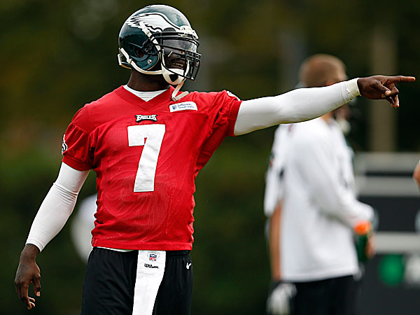 Eagles' Vick preparing to start