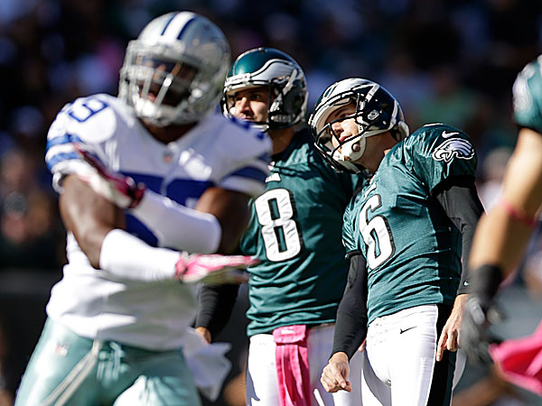 Eagles punter Donnie Jones and kicker Alex Henery. (Matt Rourke/AP)