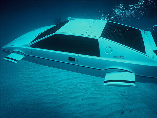 "The Lotus Espirit was used in the filming of ""The Spy Who Loved Me,"" with Roger Moore as James Bond. The submarine scenes were actually shot using a model."