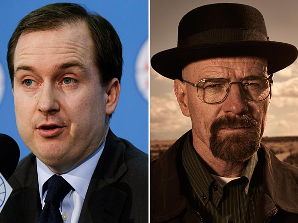 Sam Hinkie (AP Photo/Matt Rourke, File) and Walter White (Frank Ockenfels 3/AMC)
