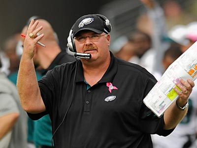 Andy Reid and the Eagles fell to the Titans, 37-19, on Sunday in Tennessee. (Clem Murray/Staff Photographer)