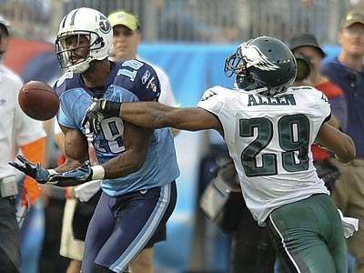 Kenny Britt caught 7 balls for 225 yards and three touchdowns against the Eagles. ( Clem Murray / Staff Photographer )