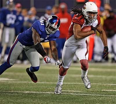 The Giants fell to the Cardinals, 24-17, at the Meadowlands Sunday night. (AP Photo / Mel Evans)
