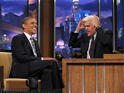 President Obama was interviewed Tuesday on The Tonight Show with Jay Leno. (AP Photo/Susan Walsh)
