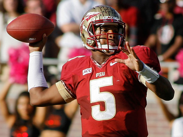 Florida State quarterback Jameis Winston. (Phil Sears/AP)