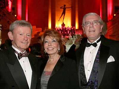 L-R: John Chappell, Main Line Health trustee, and his wife Mary Lou Chappell with Peter Havens, chairman of the Lankenau Institute for Medical Research at Lankenau Hospital´s 150th anniversary gala. (CHARLES FOX / Staff Photographer)