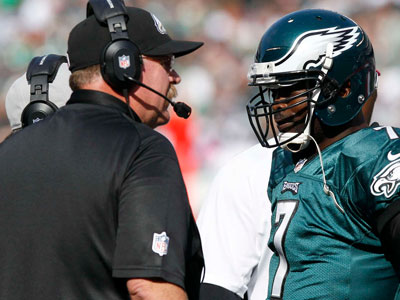 Andy Reid is under as much pressure to keep his job as quarterback Michael Vick. (Yong Kim/Staff Photographer)