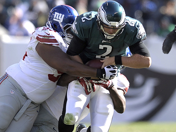 Eagles fall to Giants amid QB mess