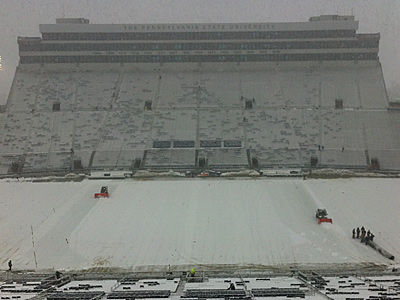 Penn State will face a tough test against Illinois in the snow at Beaver Stadium. (Jake Kaplan/Staff)