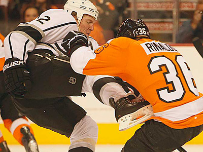 Zac Rinaldo is fifth on the Flyers in hits, despite missing four games. (Ron Cortes/Staff Photographer)