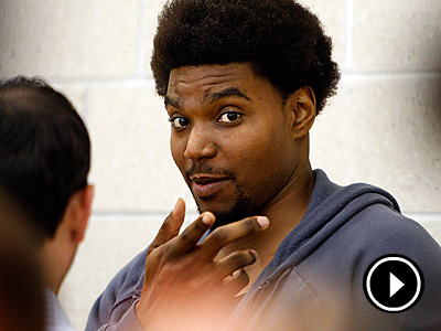 When Will Andrew Bynum see his first action as a Sixer? (David Maialetti/Staff Photographer)