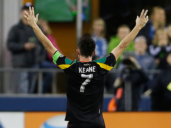 Los Angeles Galaxy forward Robbie Keane gets my vote for MLS MVP this year. (Ted S. Warren/AP)