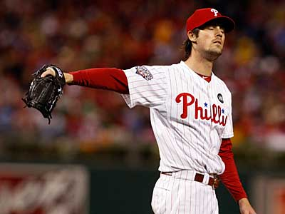 Cole Hamels allowed five runs off of five hits in Game 3 of the World Series. (Ron Cortes/Staff Photographer)