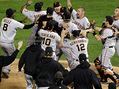 The 2010 Giants won the World Series after winning 51 of their last 81 games. (Tony Gutierrez/AP)