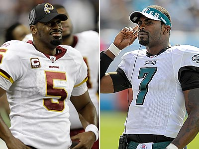 Eagles QB Michael Vick was ´shocked´ when Redskins QB Donovan McNabb was benched in the Redskins´ loss. (AP and Staff photos)