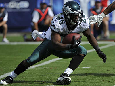 LeSean McCoy has five touchdowns this season for the Eagles. (AP Photo/Frederick Breedon)