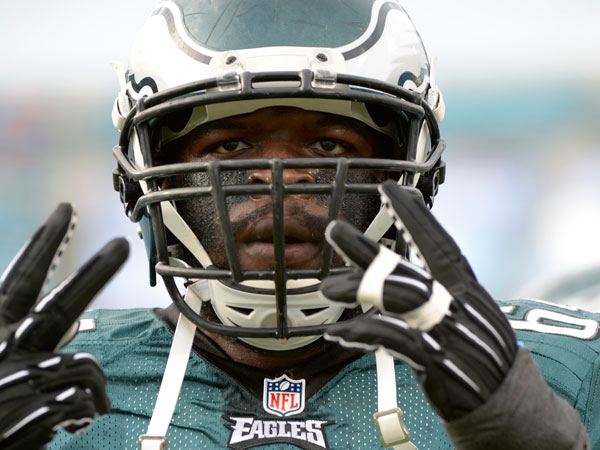 Former Eagles defensive end Clifton Geathers, now with the Redskins. (Phelan M. Ebenhack/AP file)