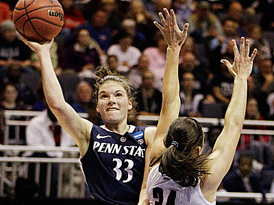 Maggie Lucas, the former Germantown Academy star, is one of the best 3-point shooters in the history of Penn State women´s basketball. (Stephan Savoia/AP)