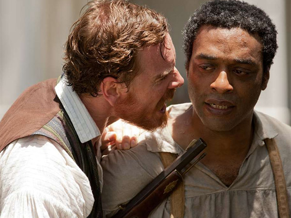 """""""12 Years a Slave"""": Michael Fassbender as Edwin Epps (left) and Chiwetel Ejiofor as Solomon Northup."""