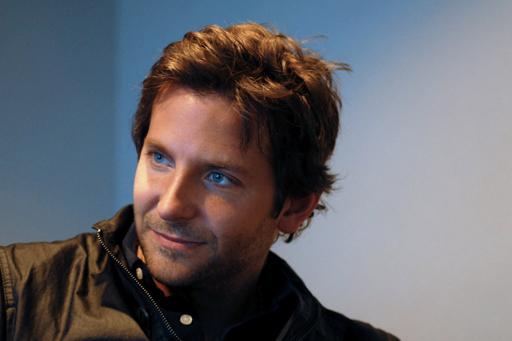 Bradley Cooper poses for portrait between media interviews in conference room at studios of WMMR radio after appearing on the Preston & Steve Show.