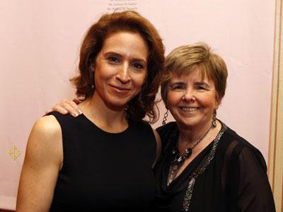Dr. Marisa Weiss, left, founder of <i>breastcancer.org</i>, and board member Joanne Gillis-Donovan at Rock the Ribbon.