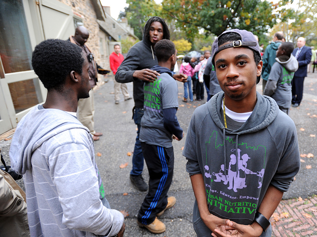 Matthew Johnson, 19, helped write the first Youth Food Bill of Rights.