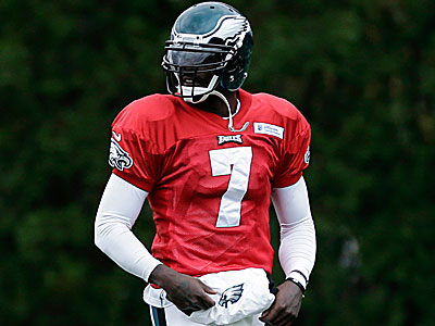 "Michael Vick told reporters Saturday that they ""create a lot of turmoil for us sometimes."" (Matt Slocum/AP)"