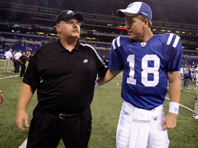 Will Peyton Manning and the Colts end Andy Reid´s undefeated streak after a bye week? (AP Photo/Darron Cummings, File)