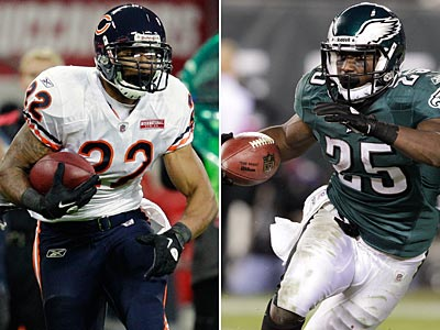 Matt Forte and LeSean McCoy have been important weapons in their teams´ offenses this season. (Staff and AP Photos)