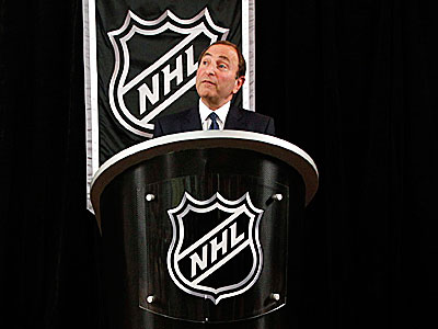 The NHL and players union met face-to-face for the first time in 16 days on Sunday. (Mary Altaffer/AP)