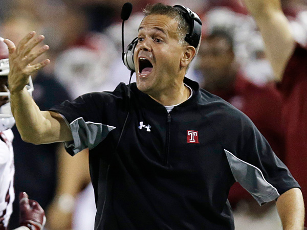 Temple head coach Matt Rhule. (Al Behrman/AP)