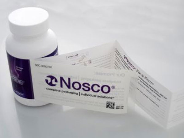 Nosco Inc. makes packaging solutions for industries, including pharmaceutical labels.