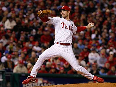 Cliff Lee went 4-0 with a 1.56 ERA in the postseason, including both World Series wins for the Phillies. (Ron Cortes / Staff Photographer)