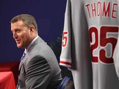 The Phillies introduced Jim Thome during a news conference at Citizens Bank Park. (Michael Bryant/Staff Photographer)