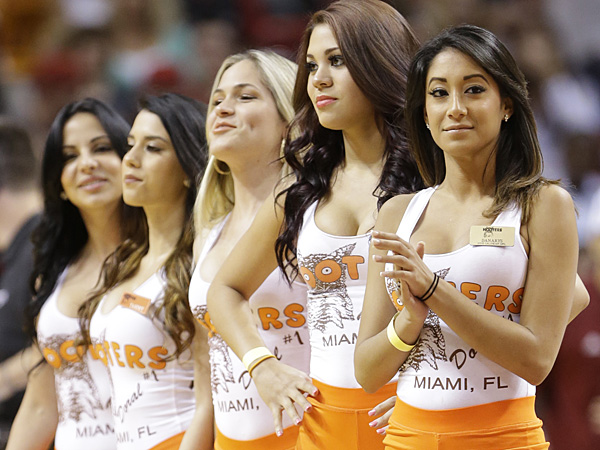 Hooters girls. (Wilfredo Lee/AP)
