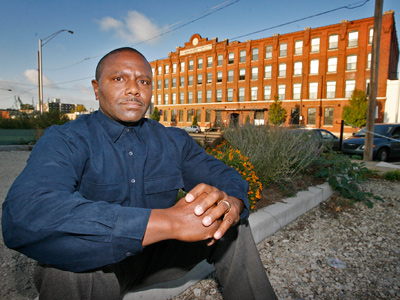 Leroy Sterling says he was the target of tickets and fines once powerful backers of the Crane Arts Building set their sights on his parcel. (Alejandro A. Alvarez / Staff Photographer)