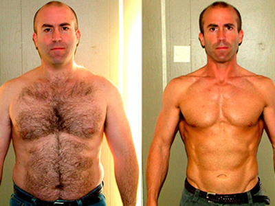 "Stuart MacDonald, before and after, featured in documentary ""I Want to Look Like That Guy."""