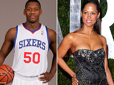 Lavoy Allen and Stacey Dash (AP Photos)