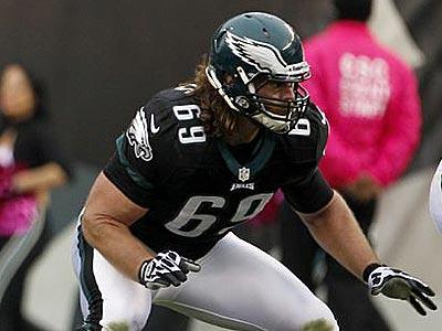 Eagles offensive lineman Evan Mathis. (Yong Kim/Staff Photographer)