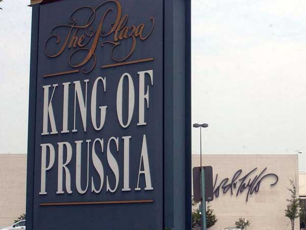 King of Prussia is one of six Philadelphia-area towns to be named in a real-estate company´s list of top Pennsylvania cities. (File photo)