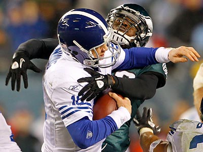 The Eagles beat Peyton Manning for the first time in his career. (Yong Kim/Staff Photographer)
